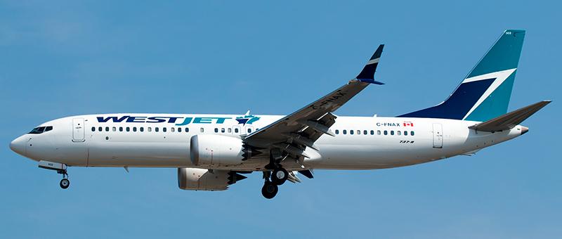 Westjet Boeing 737-8 max